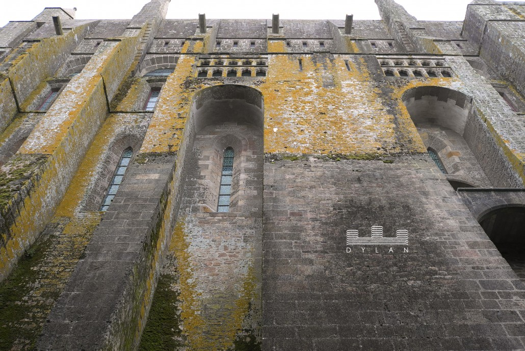 Mont St Michel - exterior wall