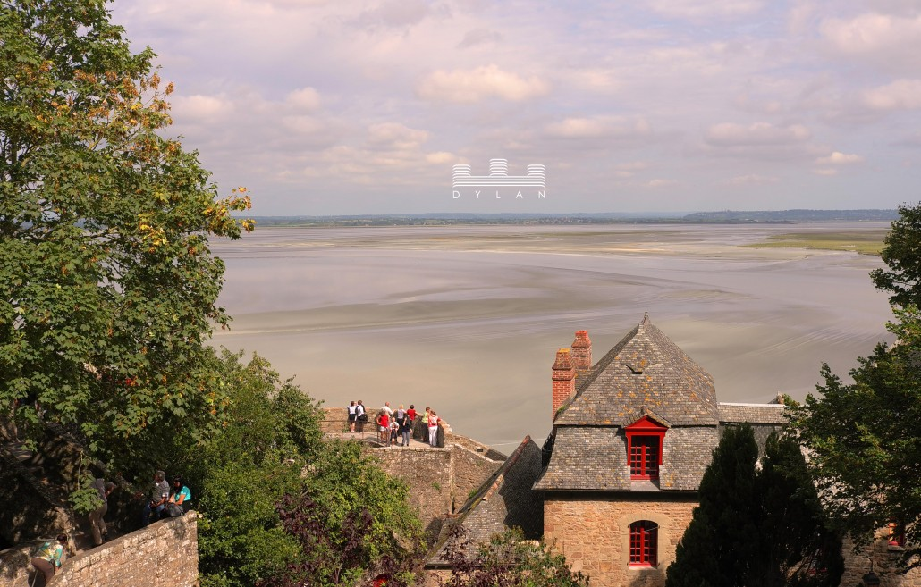 Mont St Michel - exterior with view