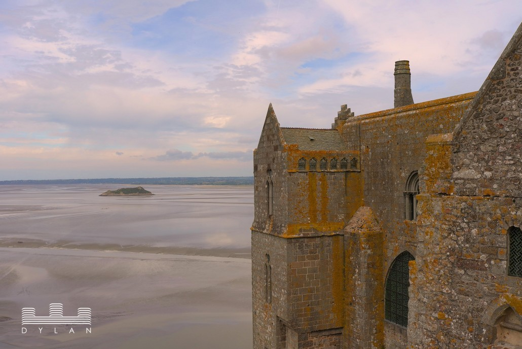Mont St Michel - exterior with view and island
