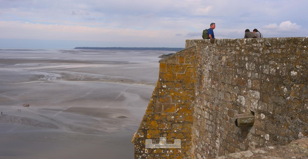 Mont St Michel - wall and people 2